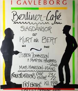 Slagdängor av Kurt och Bert @Gävle Folkteaters Caféscen